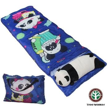 【TreeWalker】熊貓可拆洗造型兒童睡袋