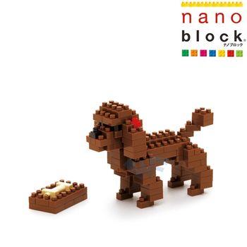 【nano block】動物系列-紅貴賓狗-任