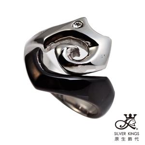 原生飾代SilverKings-陰陽海-316L白鋼戒指