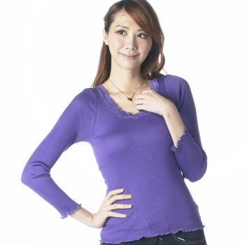 桑緹絲時尚羅紋長袖蠶絲上衣超值2件組(加贈內搭褲)