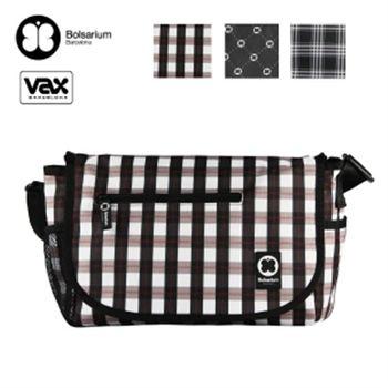 VAX 小雅仕郵差包 電腦包 11吋專用 (卡其格紋)