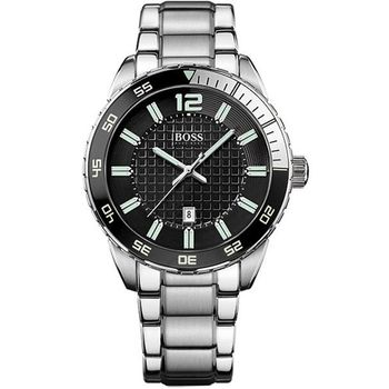 TOMMY HILFIGER經典爵士腕錶-黑/銀H1512889