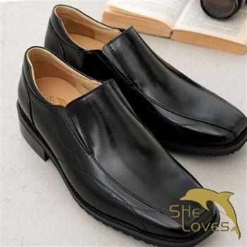 【SheLoves 喜樂絲】男士基本款氣墊皮鞋