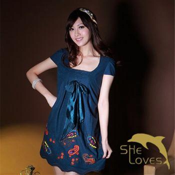 【SHELOVES】俏皮舞曲設計款無袖洋裝M~XL
