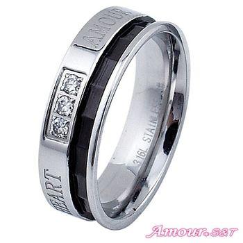 Amour S&T艾摩兒幸福洋溢白鋼戒指(男)