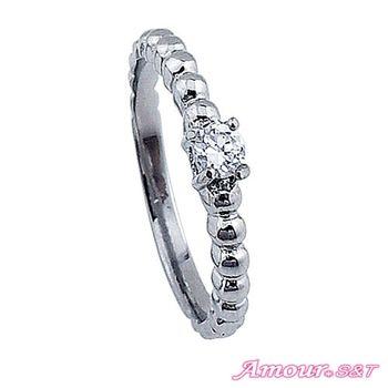 Amour S&T艾摩兒你是唯一白鋼戒指(女)