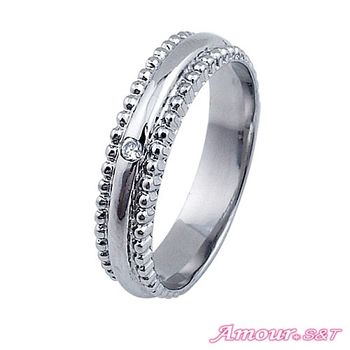 Amour S&T艾摩兒你是唯一白鋼戒指(男)