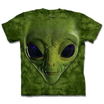 【摩達客】預購-The Mountain 綠ET臉 T恤(女/童)