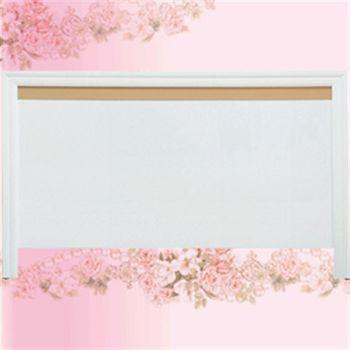 【優利亞】低調線條雙人5尺床頭片(白色)