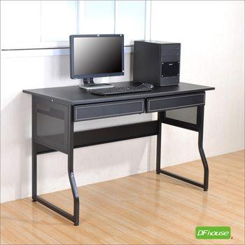【DFhouse】巴菲馬鞍皮面2抽狀元桌- 電腦桌 工作桌 辦公桌