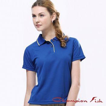 【Champion Fish】女版簡約排汗POLO衫-寶藍
