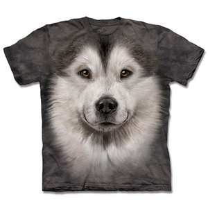 【摩達客】預購3XL-The Mountain 哈士奇雪橇犬臉T恤