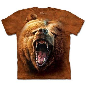 【摩達客】預購3XL-The Mountain 棕熊怒吼 T恤