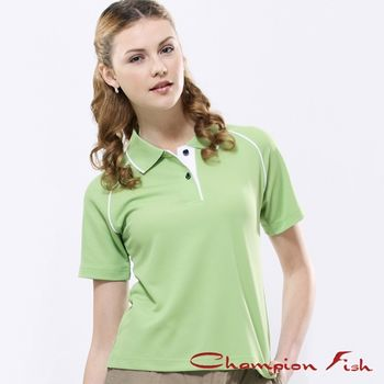 【Champion Fish】女版經典排汗POLO衫-芥末綠