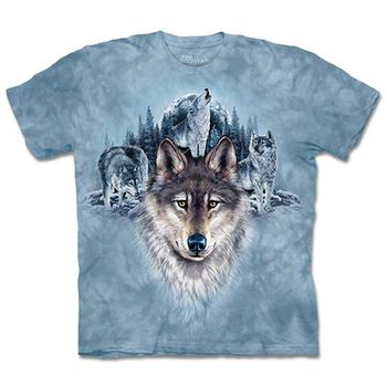 【摩達客】預購3XL-The Mountain 藍月狼群 T恤