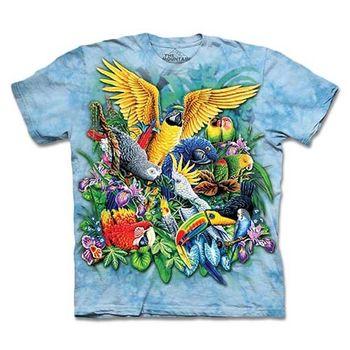 【摩達客】預購3XL-The Mountain 熱帶鳥群 T恤