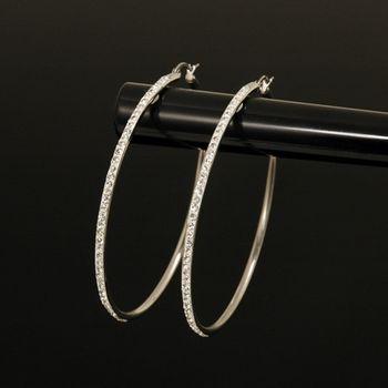 Sarlisi 經典晶鑽大圈圈西德鋼耳環