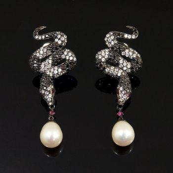 Sarlisi 純白珍珠造型925純銀耳環