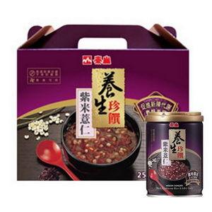 《泰山》養生珍饌-紫米薏仁粥(250G/罐*12)禮盒組-任網