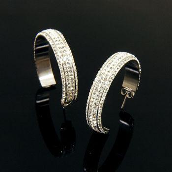 Sarlisi 名媛質感大C型西德鋼耳環