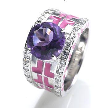 Sarlisi召喚幸福手工紫水晶戒指