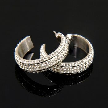 Sarlisi 輕法風情小C型西德鋼耳環