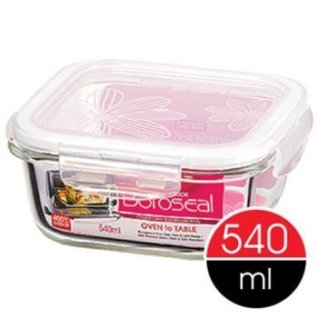 【樂扣樂扣】微波烤箱方型玻璃保鮮盒540ml-任