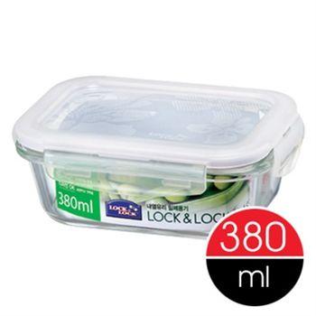 【樂扣樂扣】微波烤箱長型玻璃保鮮盒380ml-任