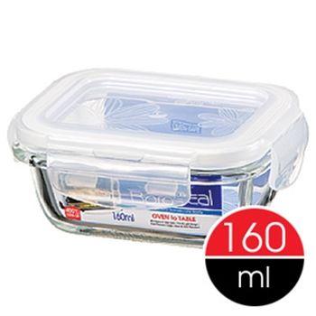 【樂扣樂扣】微波烤箱長型玻璃保鮮盒160ml-任
