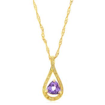 美帝亞 紫晶風華-天然紫水晶墬鍊