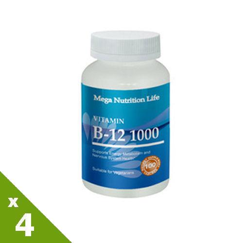 【美國原裝進口 營養生活】B12錠4入
