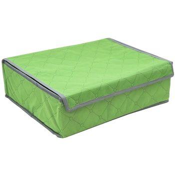 【月陽】35X27竹炭彩色16格加蓋衣物收納袋整理箱(C3516)