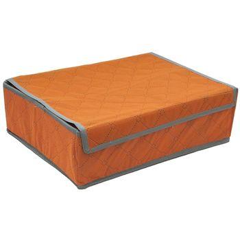 【月陽】35X27竹炭彩色24格加蓋衣物收納袋整理箱(C3524)