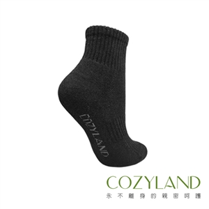 COZYLAND 機能除臭襪-防護運動襪(絲絨黑)