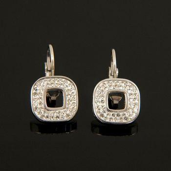 Sarlisi 獨閃氣質水晶鑽西德鋼耳環