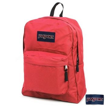 JanSport 校園背包(SUPER BREAK)-磚紅