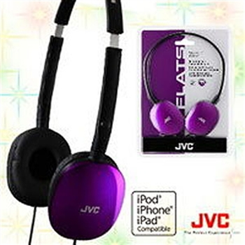 JVC HA-S160 輕型頭戴式耳機(紫)