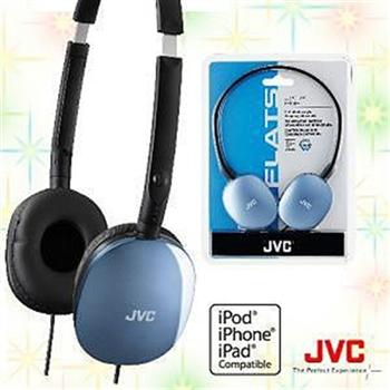 JVC HA-S160 輕型頭戴式耳機(藍)