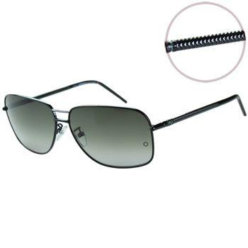 萬寶龍MONTBLANC-時尚太陽眼鏡(黑色/鐵灰色)MB362S
