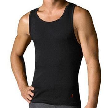 Ralph Lauren 男馬球羅紋黑色背心3件組