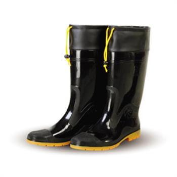 達新牌 豪帥 專業加束口防滑防水雨鞋 (黑色)