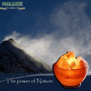 【Naluxe】義大利設計水晶鹽燈-聚寶盆