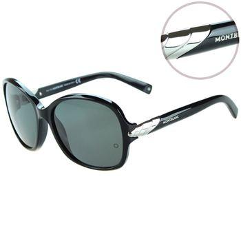 萬寶龍MONTBLANC-時尚太陽眼鏡(黑色)MB412S
