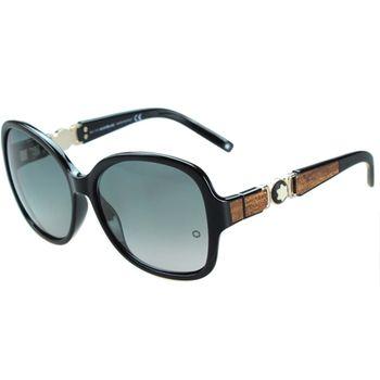 萬寶龍MONTBLANC-時尚太陽眼鏡(黑色)MB420S