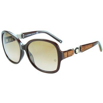 萬寶龍MONTBLANC-時尚太陽眼鏡(咖啡)MB420S