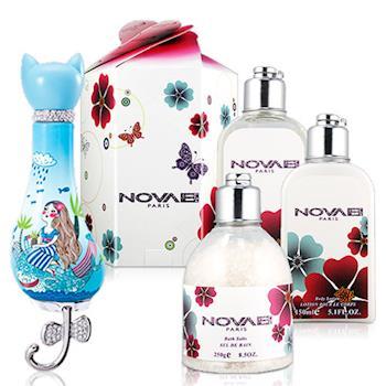 Novae Plus 紫貓物語 湛藍水漾女性淡香精(50ml)-送禮盒組