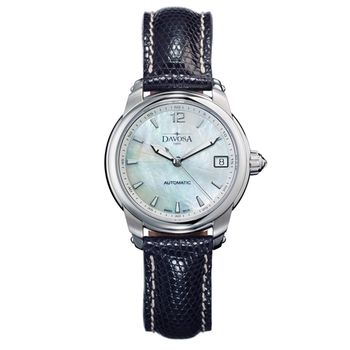 DAVOSA Ladies Delight 女錶系列/白/黑色皮帶