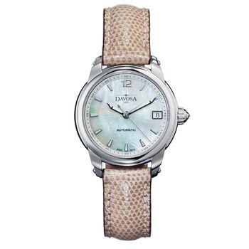 DAVOSA Ladies Delight 女錶系列/白/淺咖啡色