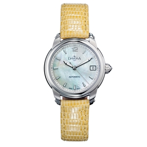 DAVOSA Ladies Delight 女錶系列/白/駝色皮帶