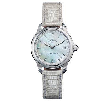 DAVOSA Ladies Delight 女錶系列/白/灰色皮帶